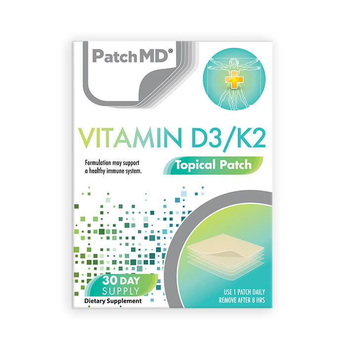D3/K2 Topical Patch – Buy One Get Two Free (90 day supply)